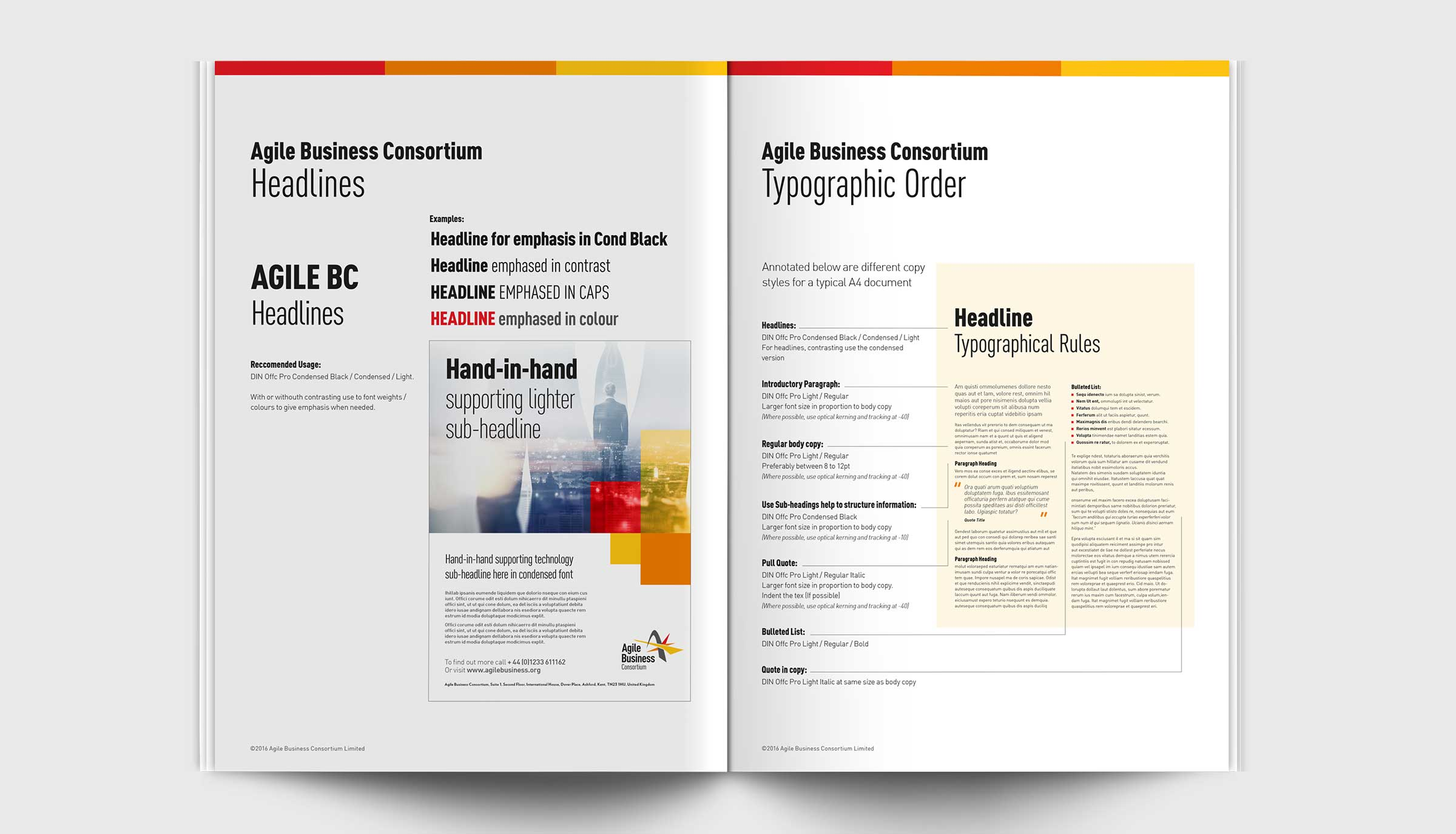 Agile Brand Guidelines Typography
