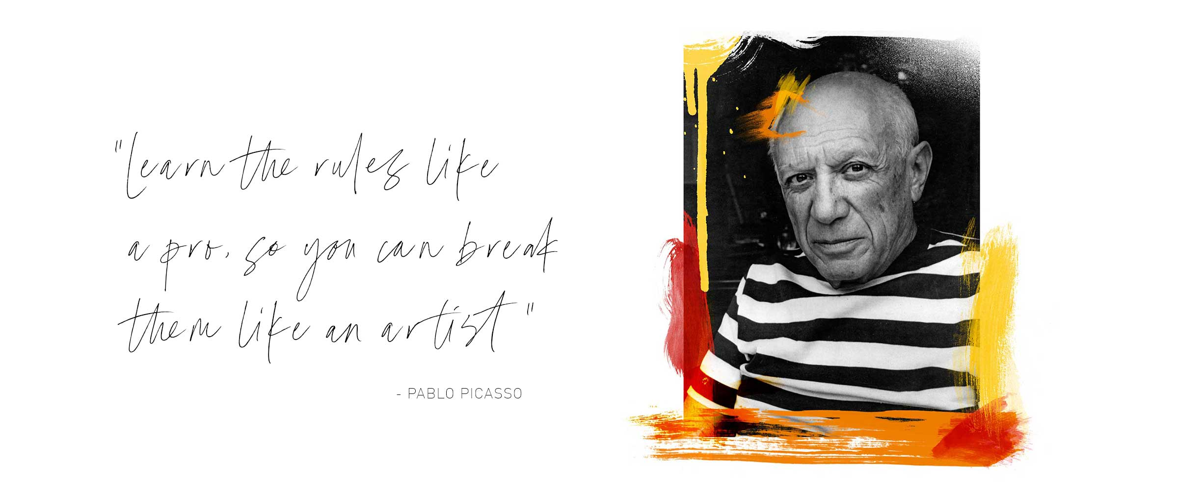 Agile Picasso Art and Quote