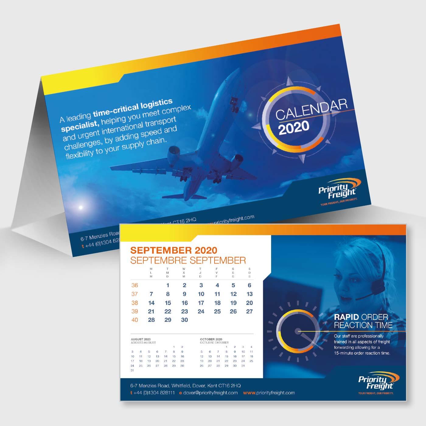 Priority Freight 2020 Desk Calendar