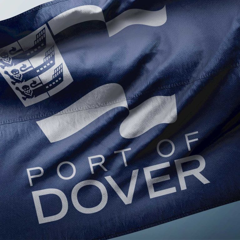 Port of Dover Brand Flag - Logo Crest