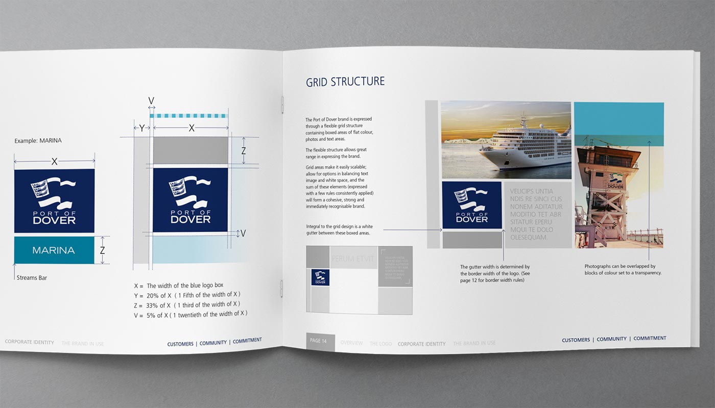Port of Dover Brand Guidelines - Grid Structure