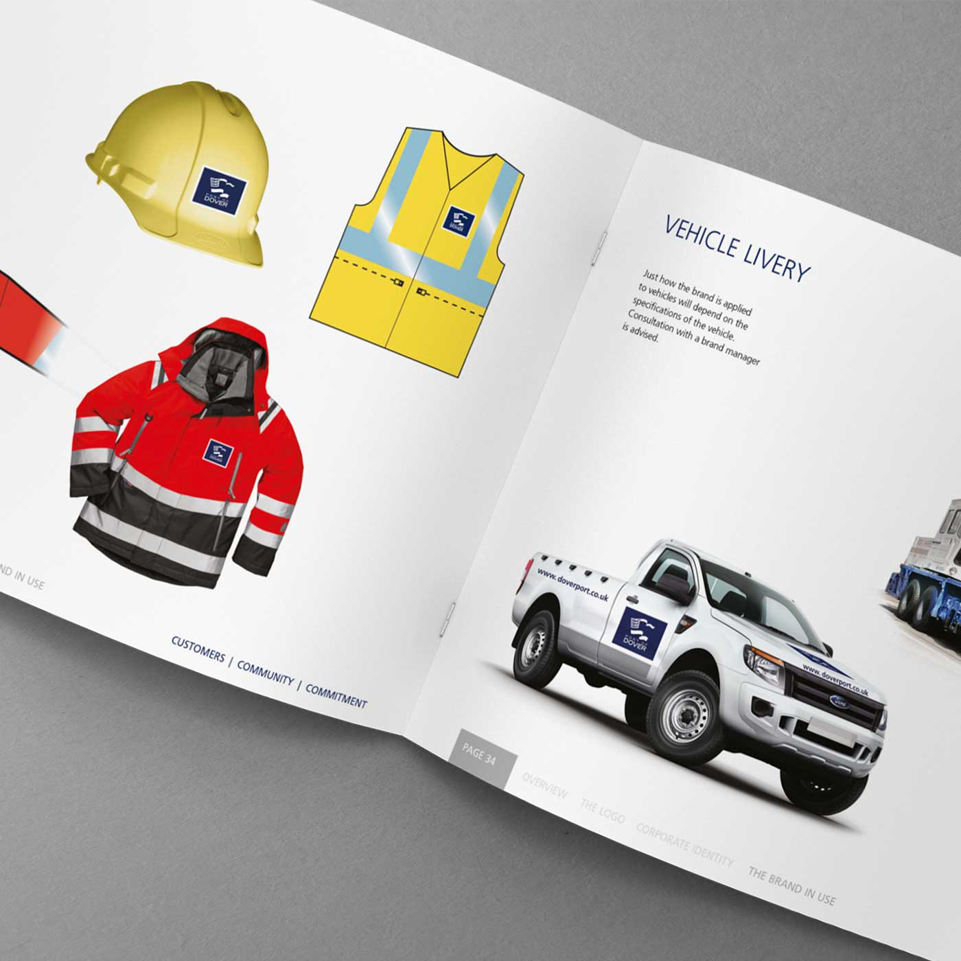 Port of Dover Brand Guidelines - Vehicle Livery