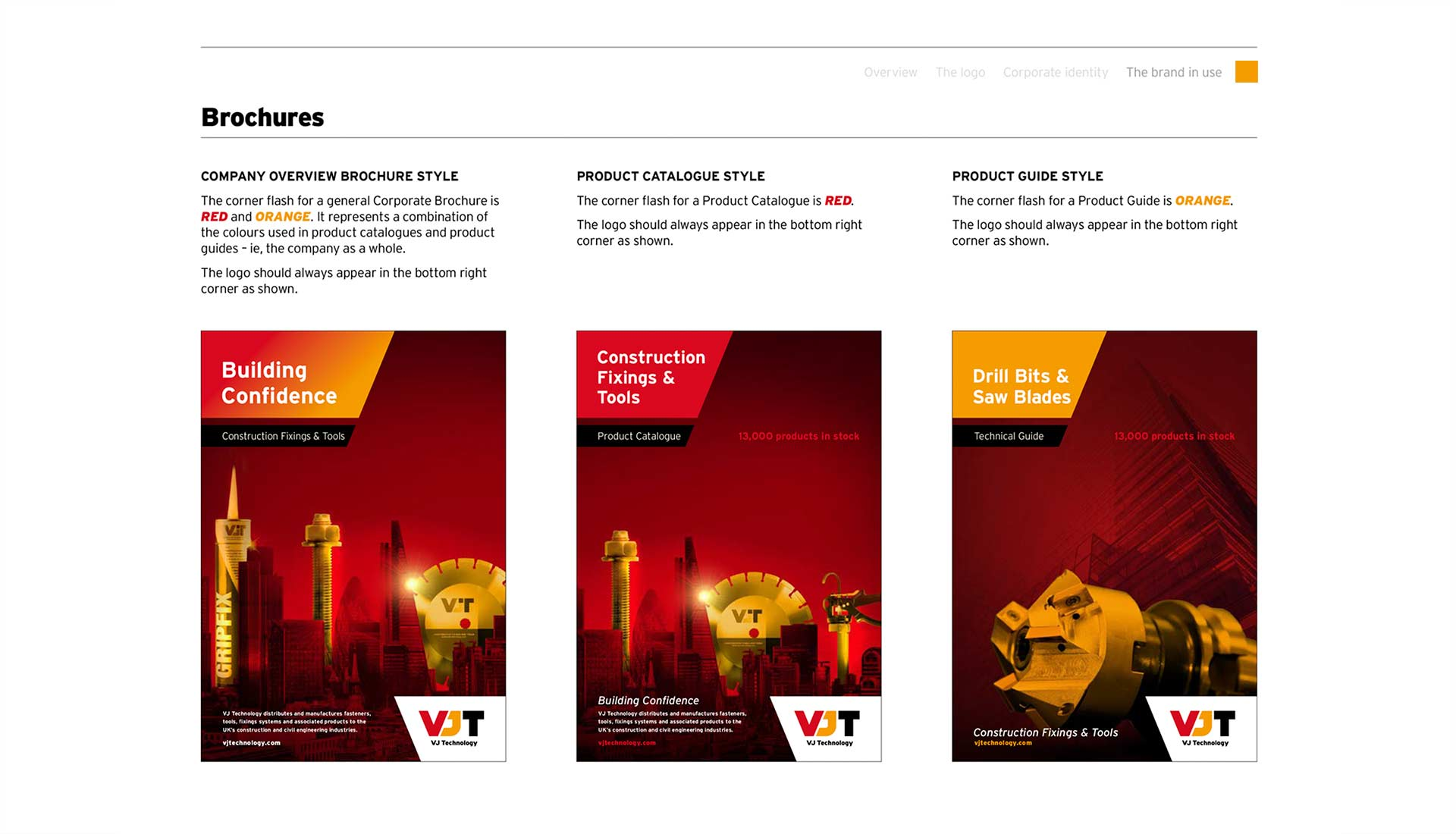 VJ Technology Brand Guidelines Brochures