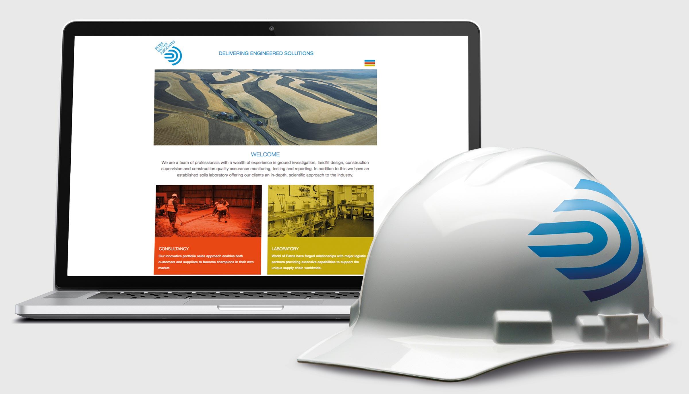 Peter Baxter Associates Brand Website and Helmet