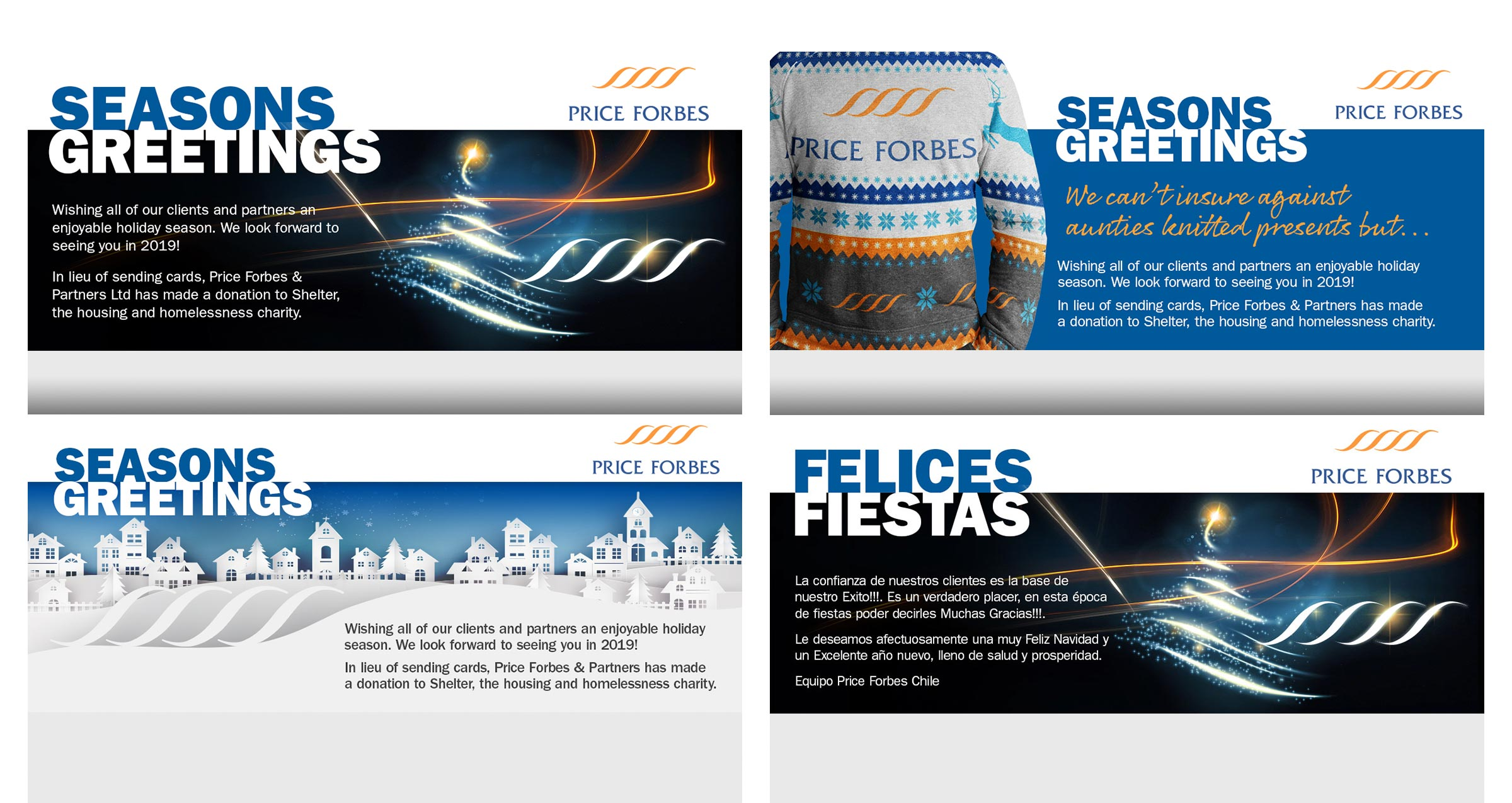 Price Forbes Christmas Email Banners